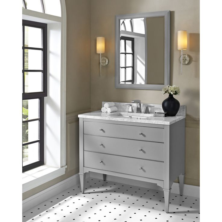 "Buy Fairmont Designs Charlottesville 42"" Vanity - Light Gray at ModernBathroom.com. Get free shipping and factory-direct savings on Fairmont Designs Charlottesville 42"" Vanity - Light Gray."