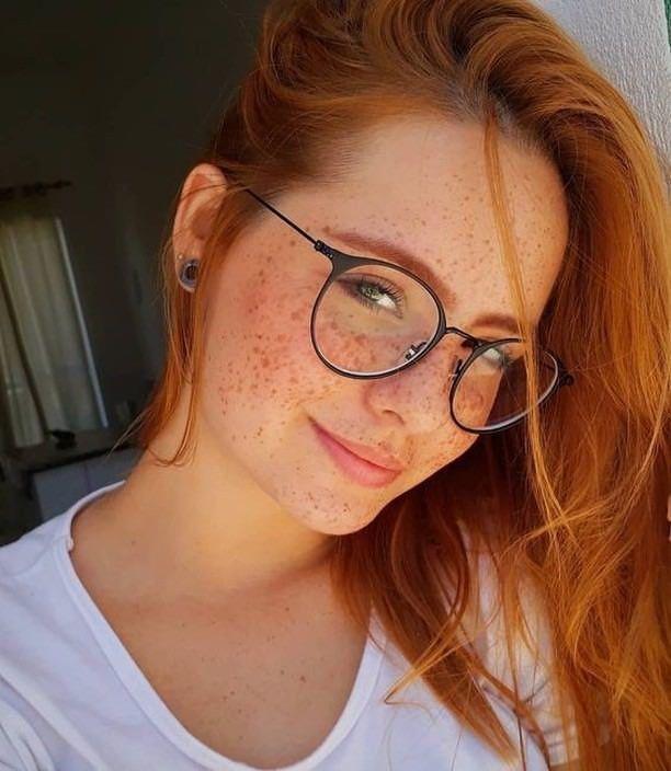 Cute ginger #freckled #GirlsWithFreckles #freckles #sexy #gingergirlie #Freckled…
