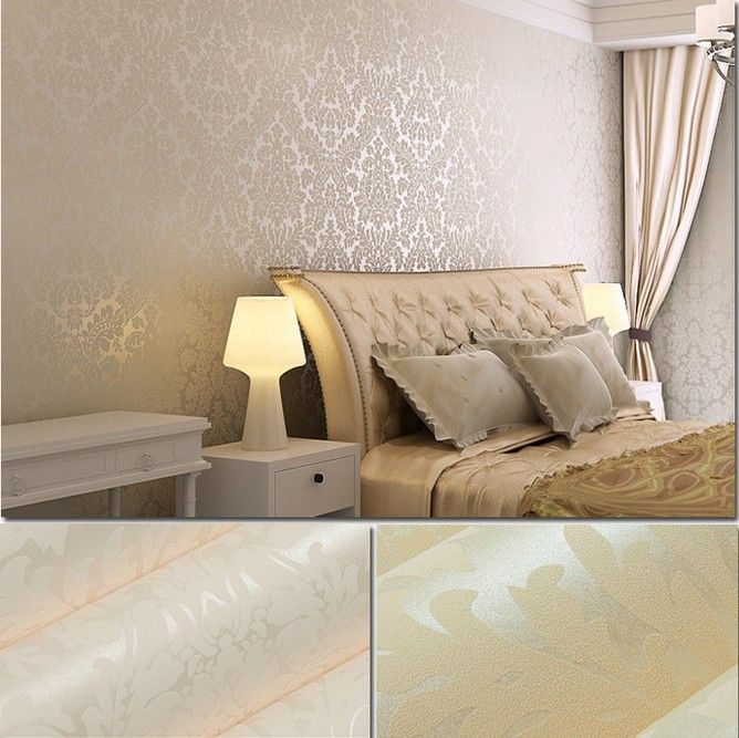22 best images about wall paper ideas on pinterest for Damask wallpaper living room ideas