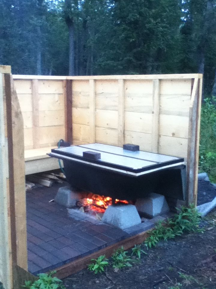 16 best wood fired hot tub images on Pinterest | Bathroom tubs ...