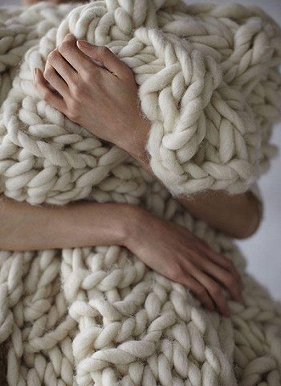 M s de 20 ideas incre bles sobre mantas de tejer brazo en - Lana gruesa para tejer ...