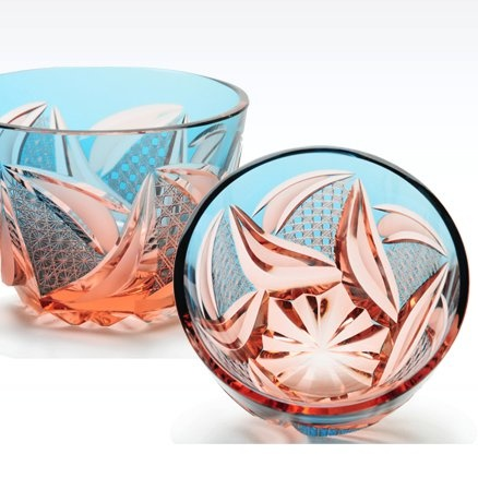 JAPANESE CUT GLASS : EDOKIRIKO>