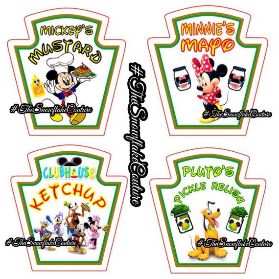 heinz label template - 4 mickey mouse clubhouse heinz style by