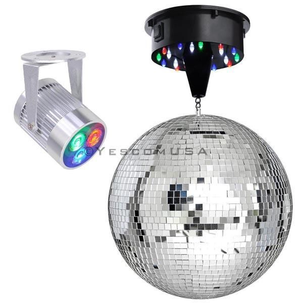 Yescom 12in Mirror Disco Ball DJ Light Set Optional Color – #12in #Ball #color #…