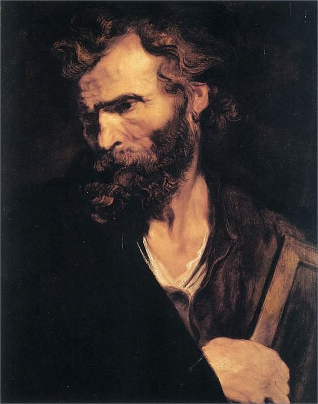 Oct. 28, Apostle Jude - Anthony van Dyck, 1619-1621 WikiPaintings.org - the encyclopedia of painting