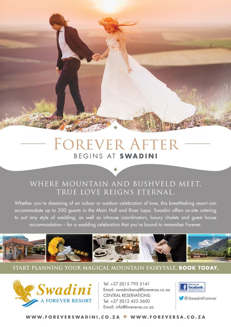 Greetings Swadini Fans! Let us help make your dream wedding a reality at a magical place where memories are made. Call today on 015 795 5141 and let us take care of the rest... Have a great day, Team ‎Swadini‬