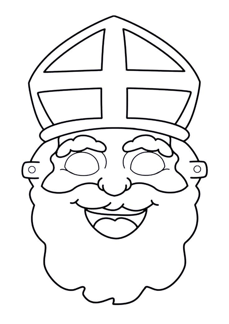 prins bili tekent een sinterklaas masker print de