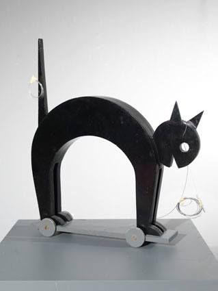 Fortunato Depero Gatto nero (Marionette dei Balli Plastici), 1981