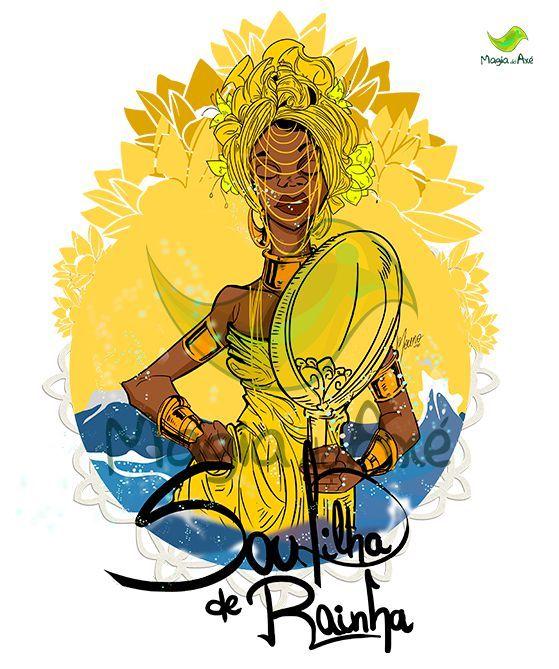 Camiseta Oxum Pandá - Sou filha de Rainha