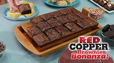 Red Copper Brownie Bonanza | Official Site | The Ultra-Tough Ceramic Pan That Makes Perfect Brownies Every Time!