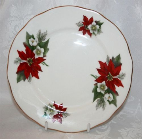 Duchess China Salad/Starter Plate - Pointsettia