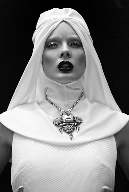 """hot fashionable nun: """"for i have sinned"""" by Khoa Bui (StrangelyCompelling.net 42937705432)"""