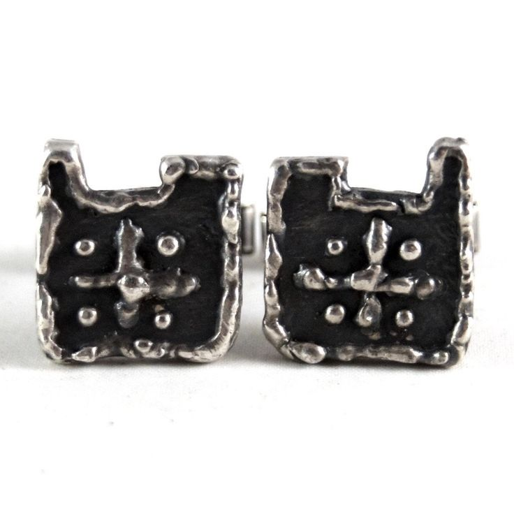 ON HOLD - Early Guy Vidal Cufflinks - Abstract Face