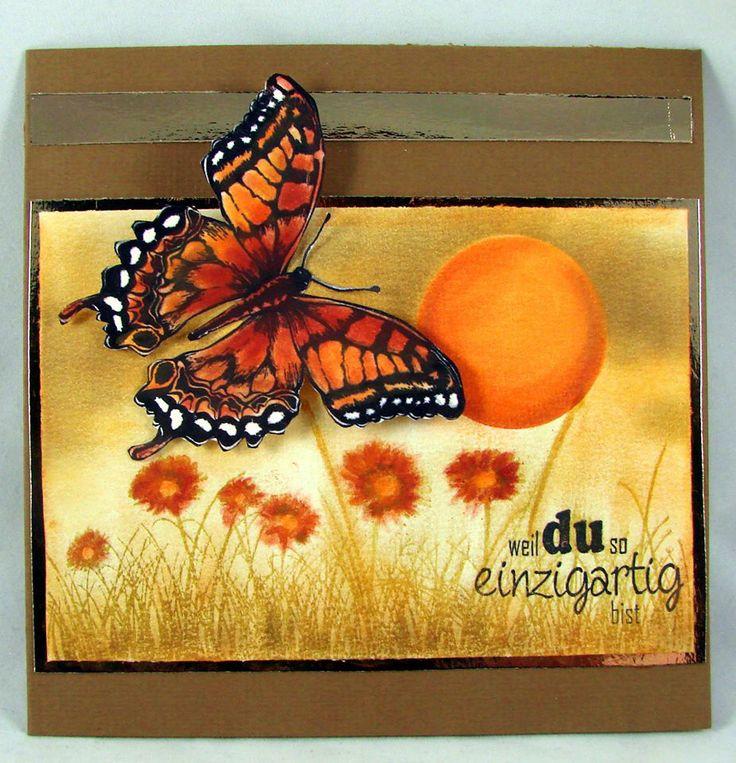 6410/0072 Noor! Design Stempel old letter butterfly door Gudrun