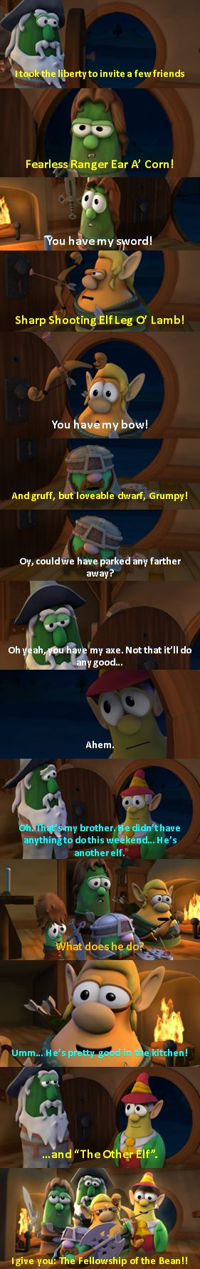 Ah, my childhood! I love this movie :) VeggieTales: The Lord of the Beans