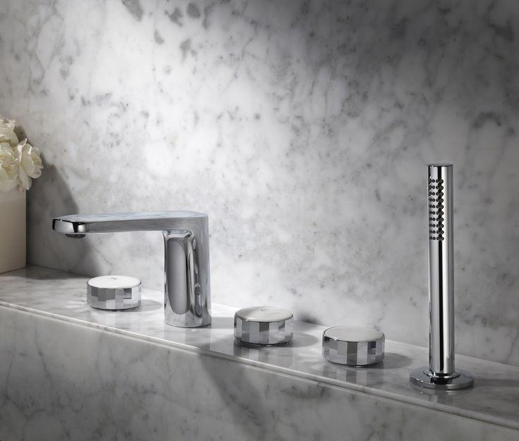 Texture Collection - Meneghello Paolelli Associati design #fimacarlofrattini #fmacf #texturecollection #bathroom #rubinetteria #design #faucet #bordovasca #deckmountedbathmixer #chrome #luxury
