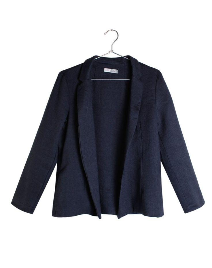 Cucù Lab AI1617  • giacca CLUSTER lana lino blu • www.cuculab.it •