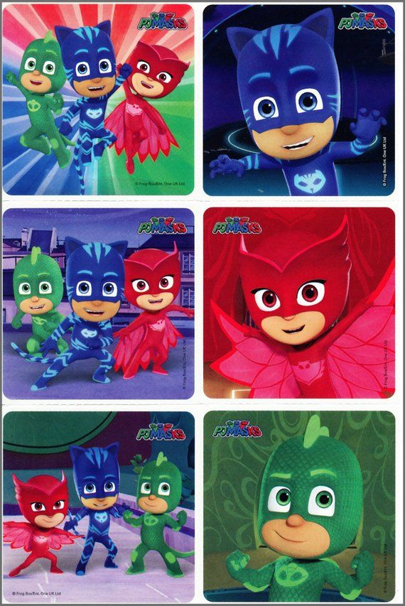 PJ Masks Pajama Hereos Sticker Sheets 4 sheets Party//Loot//Stocking Fillers