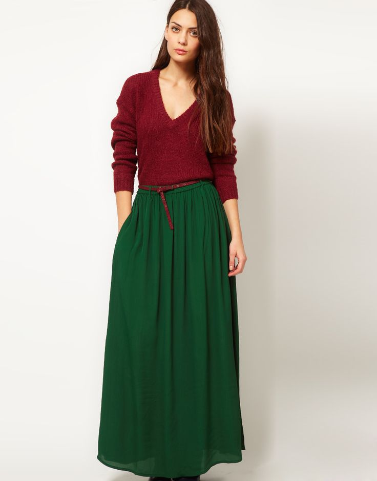 17 Best images about Burgundy maxi skirt on Pinterest | Full ...