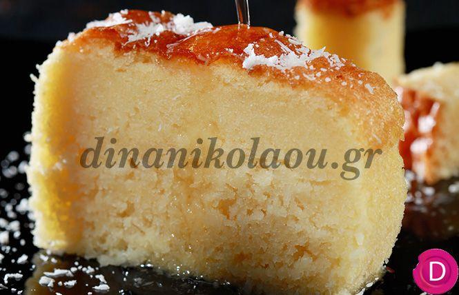 Κέικ καρύδας σιροπιαστό | Dina Nikolaou