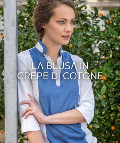 #blusa in #crepe di #cotone elegante e fresca, perfetta per il caldo estivo, senza perdere in stile #per15 #ss15 #purecotton
