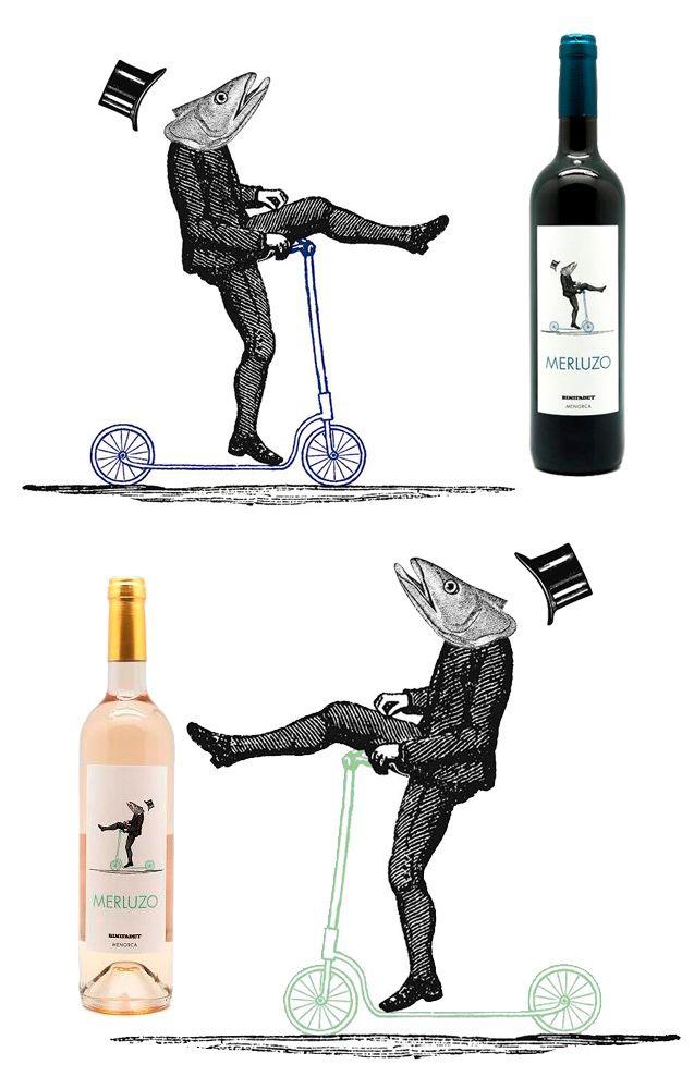 merluzo de binifadet #etiqueta #vino #menorca www.prettywines.com