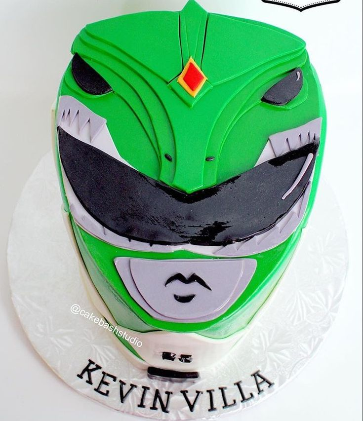 Green Power Ranger Cake by Cake Bash Studio & Bakery,Sherman Oaks