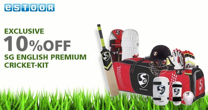Get Flat 10% OFF on SG English Premium Cricket-Kit . Shop Now @ eSTOOR.com