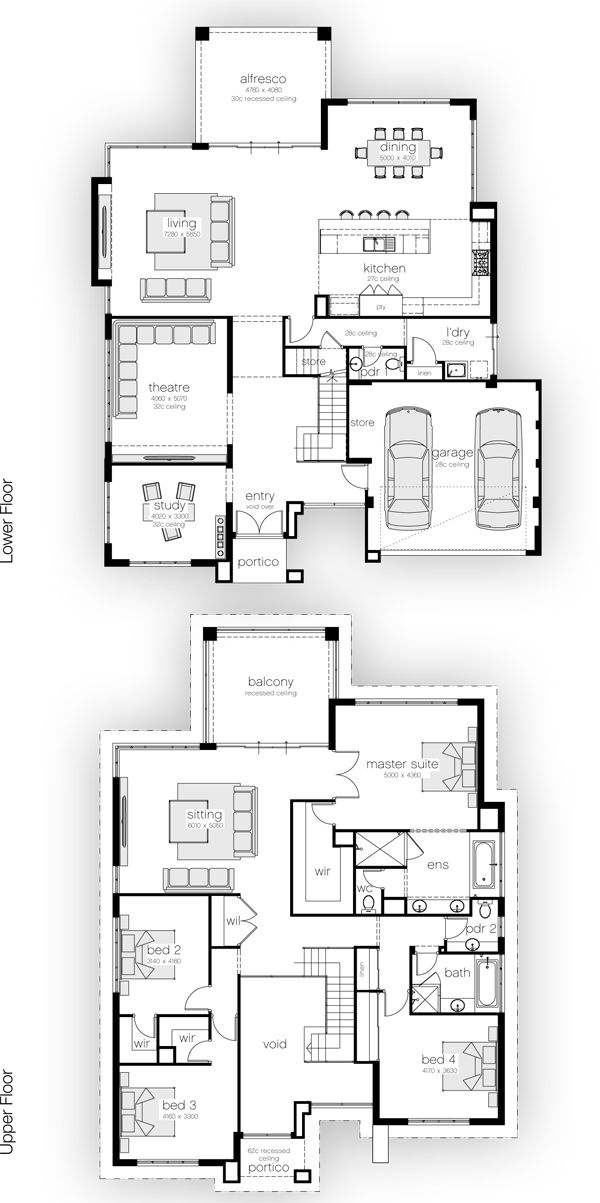25 Best Ideas About 4 Bedroom House Plans On Pinterest Country House Plans Blue Open Plan