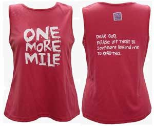 One of my favorite running t-shirts: Dear God, please let there be someone behind me to read this! @Andrea / FICTILIS Brice