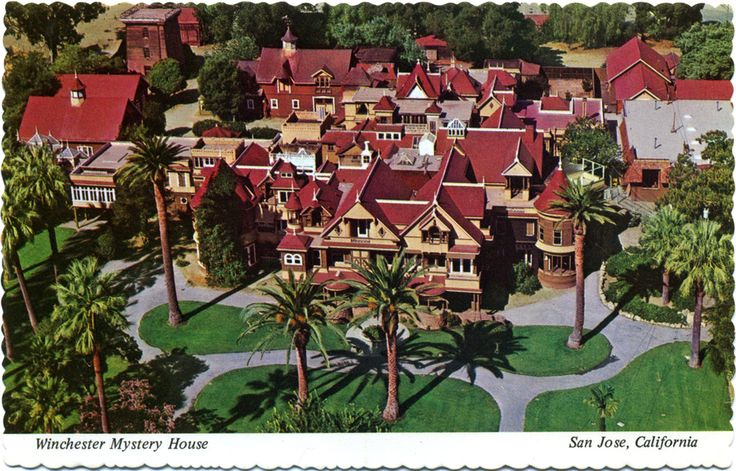 In case you're not familiar with the Winchester Mystery House, let's just say that it's creepy and it's kooky, mysterious and spooky. It's all together ooky—the Winchester Mystery House! (Snap, snap.) READ THE STORY IN MY BLOG POST! https://stargazermercantile.com/the-winchester-house-april-fool/  #California #travel
