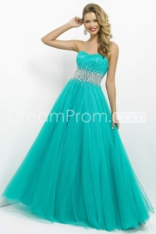 2014 Floor-length Strapless Sleevelessss Tulle Ball Gowns/ Prom Dresses