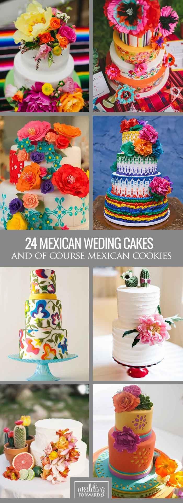 24 ideas de hermosos y coloridos pasteles con temática mexicana.