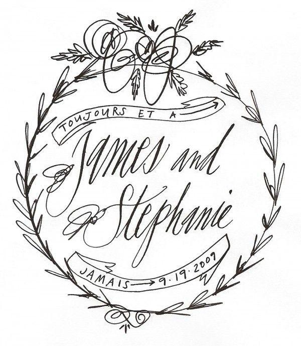 modern calligraphy crest