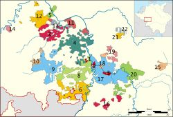 """Electoral Palatinate - The County Palatine of the Rhine, later the Electoral Palatinate, was a historical territory of the Holy Roman Empire, originally a palatinate administered by a count palatine. Its rulers served as prince-electors from """"time immemorial"""", were noted as such in a papal letter of 1261, and were confirmed as electors by the Golden Bull of 1356."""