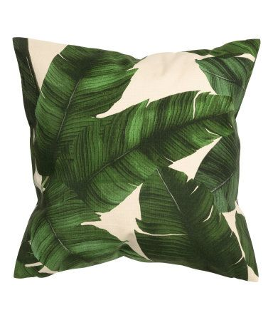 Mønstret putetrekk   Mørk grønn/Blad   Home   H&M NO