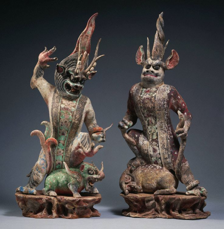 Tang dynasty, 618–907 Chinese Pair of tomb guardians, ca. mid–8th century