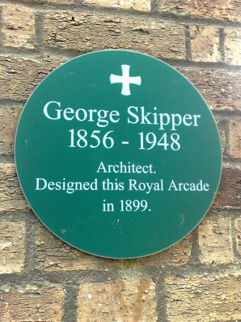 George Skipper green plaque by sleepymyf, via Flickr