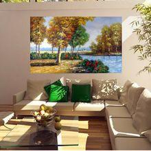 dipinto a mano pittura a olio classica di paesaggio per soggiorno decorazione della parete di arte quadri moderni dipinti su tela casa deocr(China (Mainland))