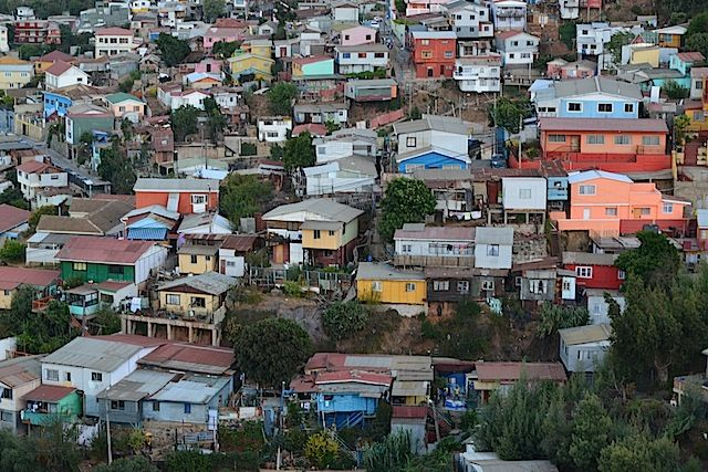 Valparaiso Chile's houses on the hills. #Chile