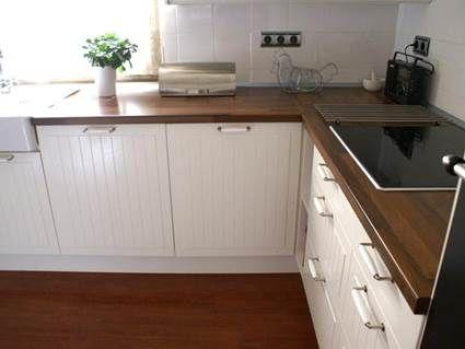 encimeras de madera en la cocina