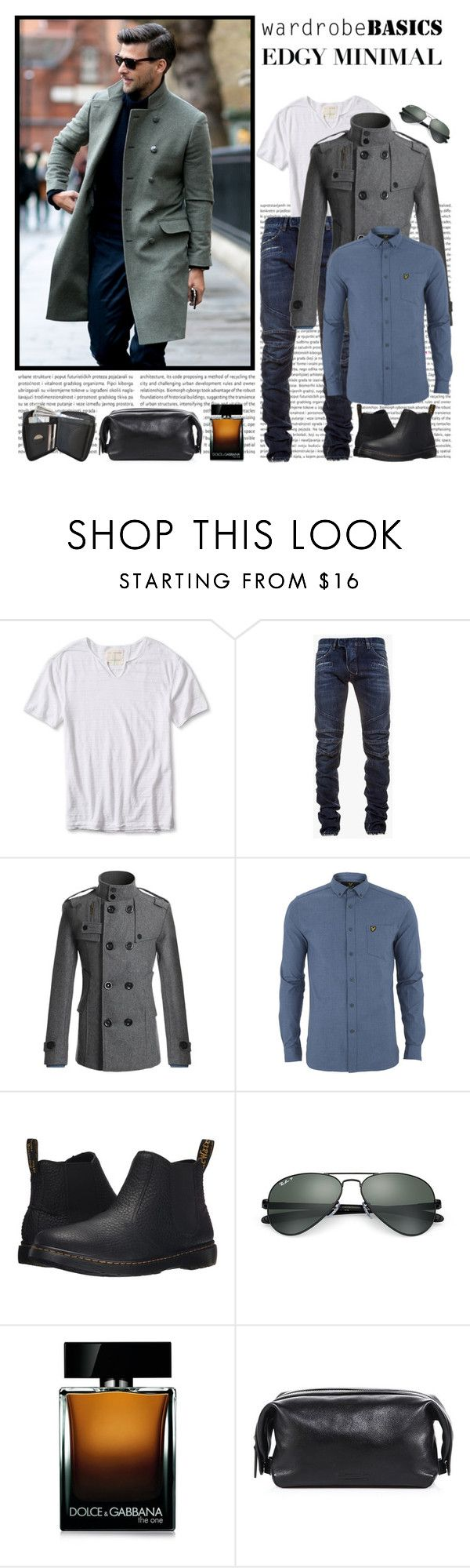 Men's Basics by leegal57 on Polyvore featuring Lyle & Scott, Banana Republic, Balmain, Doublju, Dr. Martens, Ray-Ban, Dolce&Gabbana, Uri Minkoff, mens and men
