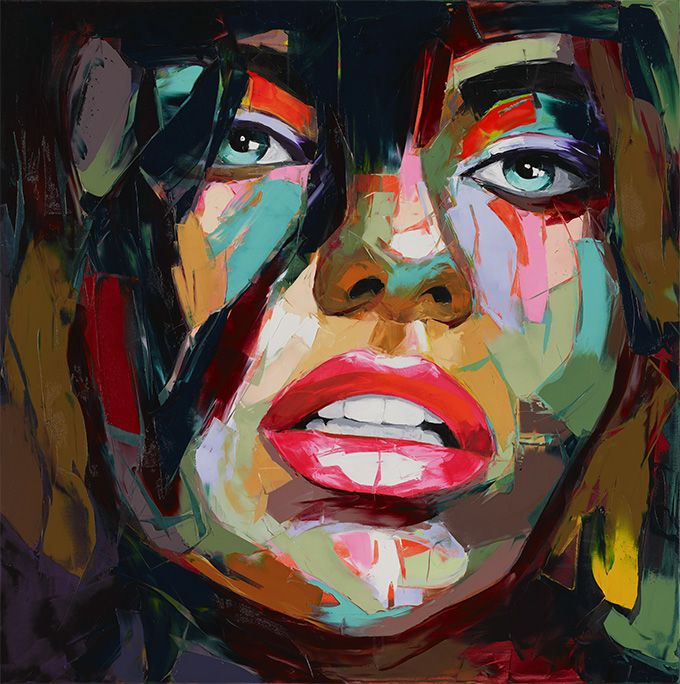 Francoise Nielly's massive, colourful portraits are delicious to look at. Even more wonderful – and particularly infuriating to those of us who have timidly dabbled in painting – is to watch her create them. She, in her confident, strong hand, wields her painting knife shaped like a miniature garden trowel, and makes painting look easy …