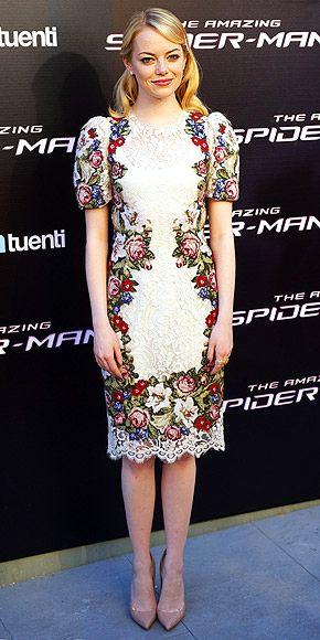 Emma wearing Dolce and Gabbana.