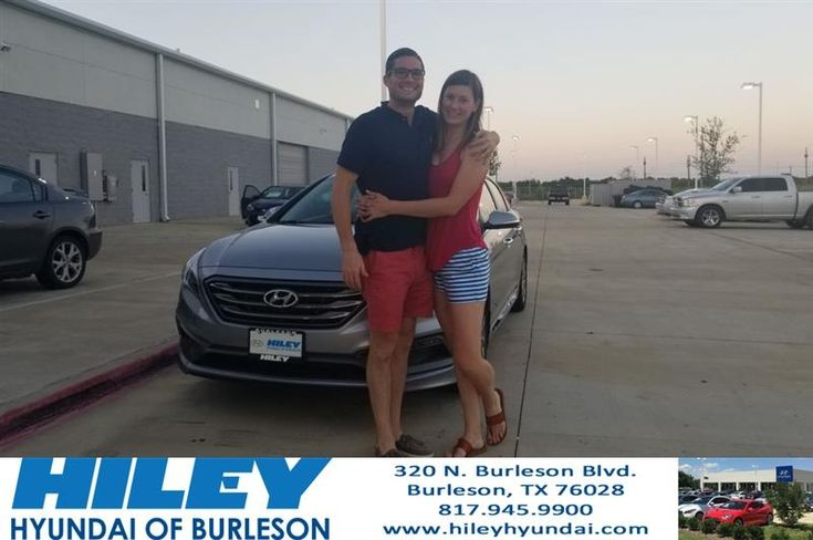 Congratulations Christopher And Erin on your #Hyundai #Santa Fe Sport from Chad Mohler at Hiley Hyundai of Burleson!  https://deliverymaxx.com/DealerReviews.aspx?DealerCode=KNWA  #HileyHyundaiofBurleson