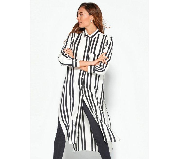 Dlouhá košile s rozparky a pruhy | modino.cz  #ModinoCZ #modino_cz #modino_style #style #fashion #spring #summer #shirt