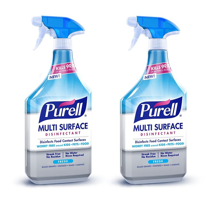 Amazon Purell Multi Surface Disinfectant Spray Fresh Fragrance 28 Oz Spray Bottle Pack Of 2 Sprink Disinfectant Spray Natural Cleaning Products Cleaning
