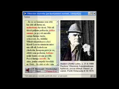 Suomen murteet - Old Finnish dialects - YouTube
