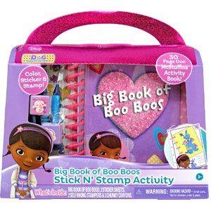 Doc McStuffins Big Book of Boo Boos Stick N' Stamp Activity