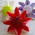 #girasole realizzato con la tecnica origami